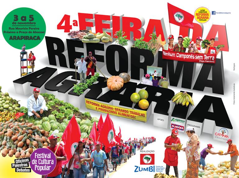 Sem Terra realizam 4ª Feira da Reforma Agrária em Arapiraca
