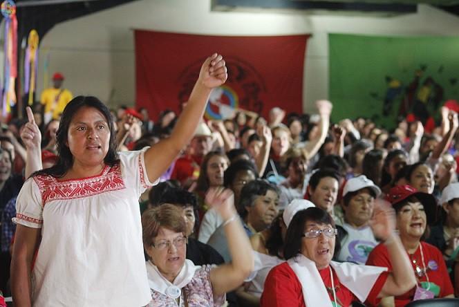 Cloc -Via Campesina presta solidariedade ao MST