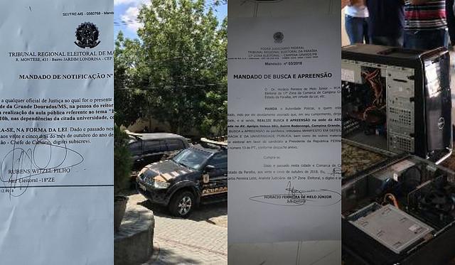 Agentes do Estado invadem universidades em todo o país às vésperas do 2º turno