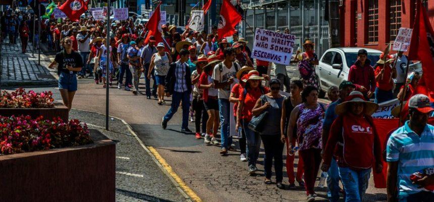 Mulheres mobilizam-se contra a Reforma da Previdência no Paraná
