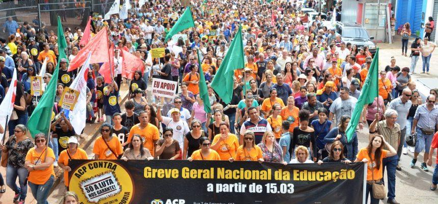 Em defesa da Previdência, milhares de pessoas se manifestam em Mato Grosso do Sul
