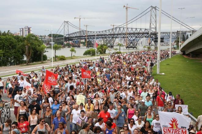 MST manifesta apoio e solidariedade ao SINTRASEM em Santa Catarina