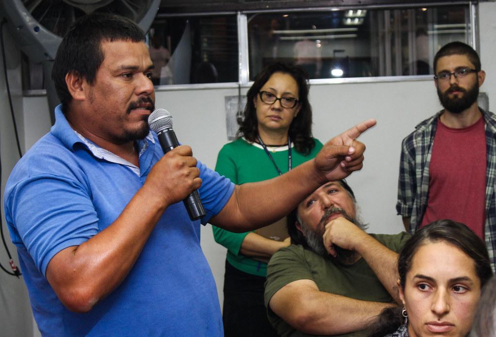 O assentado Marcelo Paiakan disse que não há nenhum acordo das comunidades com a Copelmi. Foto – Catiana de Medeiros.jpg