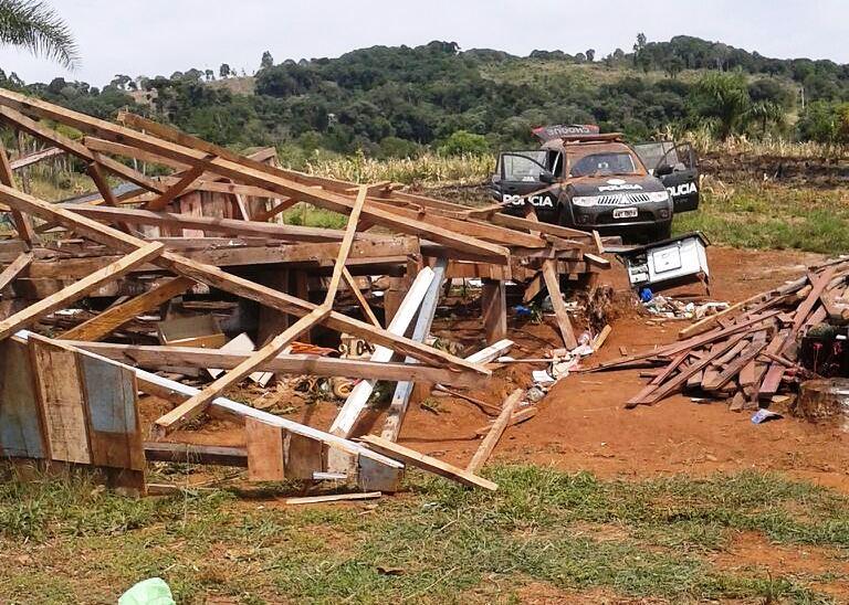PM realiza despejo em acampamento no Sudoeste do Paraná