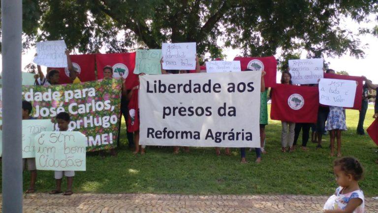 mobilização pede liberdade para presos políticos do MST