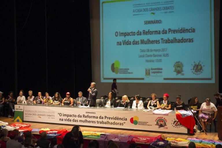 Seminário aborda os impactos da reforma da Previdência na vida das mulheres
