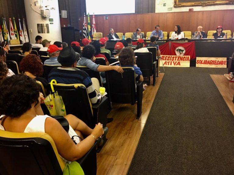 Ato em solidariedade ao MST é realizado na Câmara Municipal de São Paulo