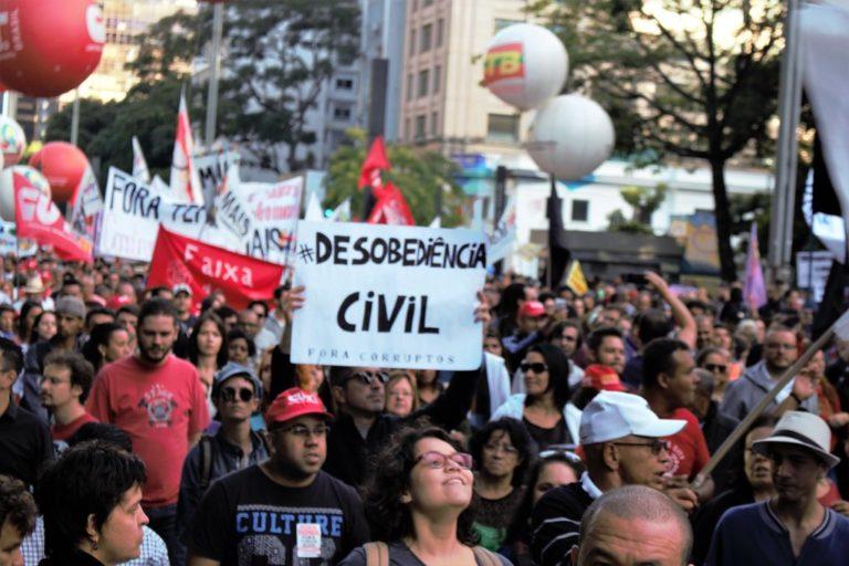 Sindicatos e movimentos populares protestam em São Paulo no 31M