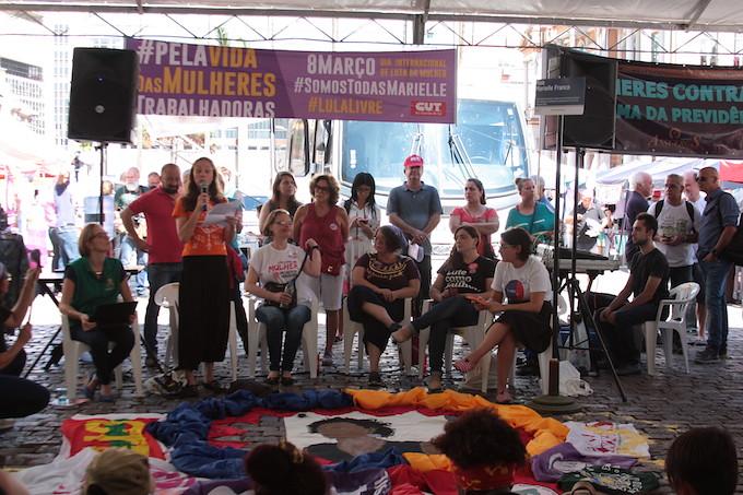 Convidadas que participaram do painel na manhã desta sexta-feira, 8 de março no centro de Porto Alegre (1).jpg