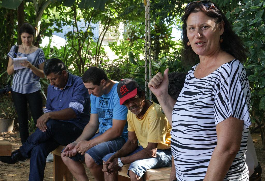 Na cerimônia de inauguração dos novos equipamentos da cooperativa, Salete Carollo, do setor de produção do MST destacou a importância da agroindústria para o estado. Foto Catiana de Medeiros.jpg