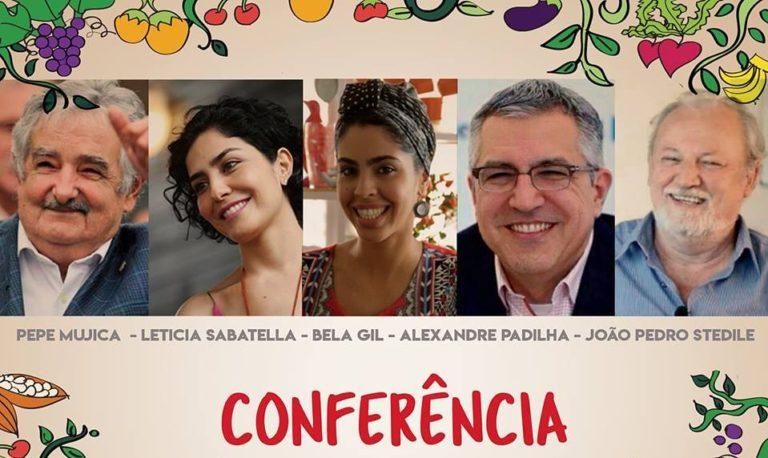 Conferência sobre alimentação saudável terá presença de Pepe Mujica e Bela Gil