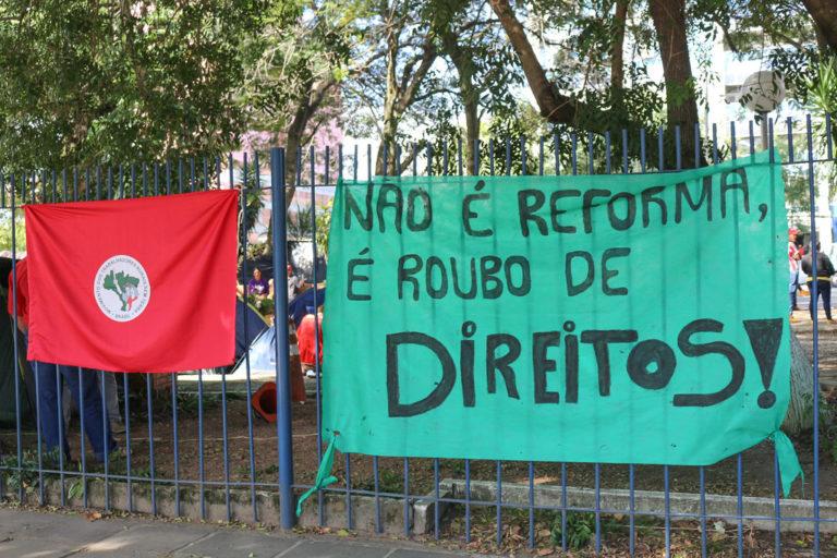 MST no RS se soma à greve geral nesta sexta-feira