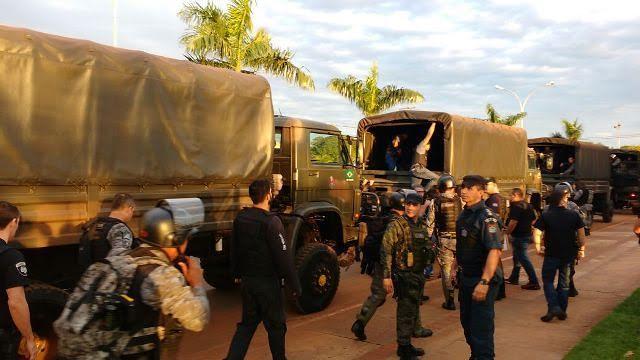 Em Caarapó, militares agem com violência em retomada de território indígena