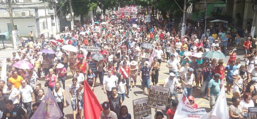 Trabalhadores no Pará participam da Greve Geral