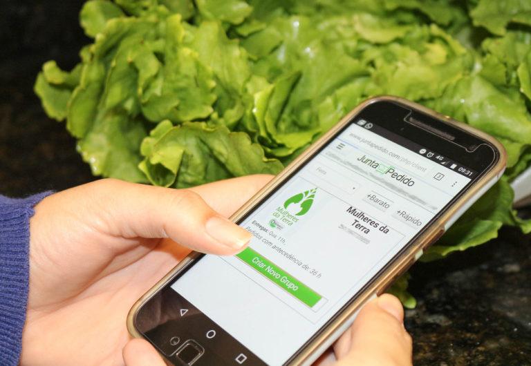 JuntaPedido: Assentados oferecem alimentos orgânicos por meio de aplicativo de celular
