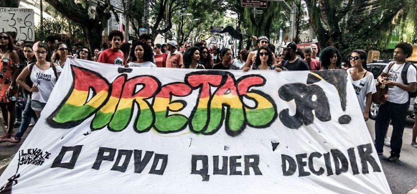 Em Salvador, dois mil trabalhadores marcham até o Farol da Barra por Diretas Já