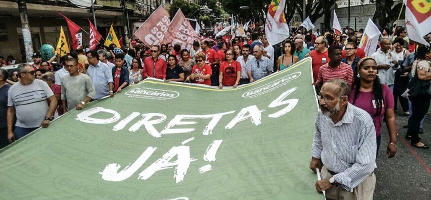 10 mil trabalhadores ocupam as ruas de Salvador pelo Fora Temer e por Diretas Já