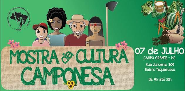 Mostra da Cultura Camponesa expõe produção de assentamentos do MS