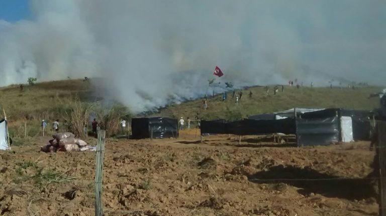 Fazendeiro Horácio Dias ataca acampamento na Zona da Mata mineira