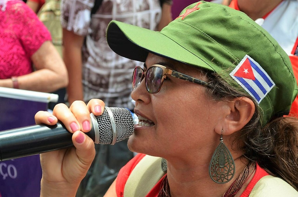 Miriam Farias, paraibana, durante a Jornada de Lutas das Mulheres Sem Terra, em março de 2017.jpeg