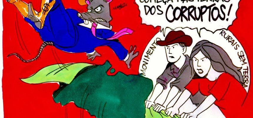 MST: Corruptos, devolvam nossas terras!