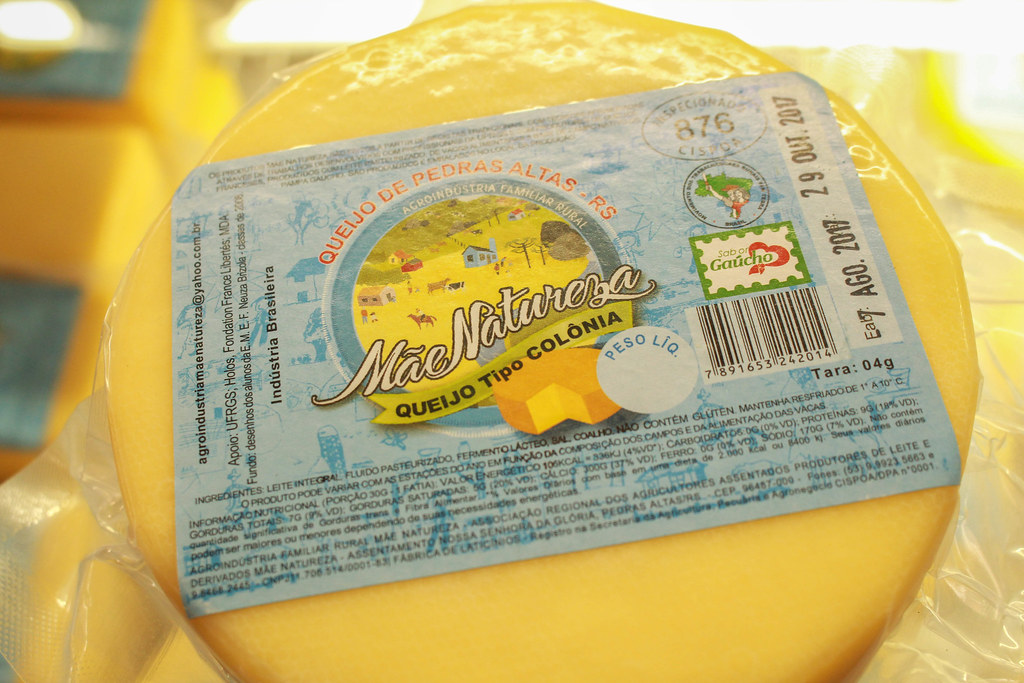 Entre os alimentos que se destacaram na Feira está o queijo colonial, da Agroindústria Mãe Natureza .jpg