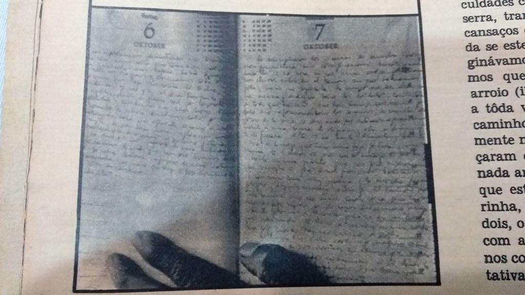 Imagem do diário de Che Guevara, com a última página escrita, no dia 7 de outubro de 1967, um dia antes de ser assassinado.jpg
