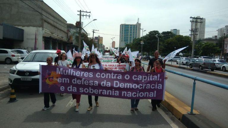 Mulheres lançam manifesto contra o capital em defesa da democracia e da soberania nacional