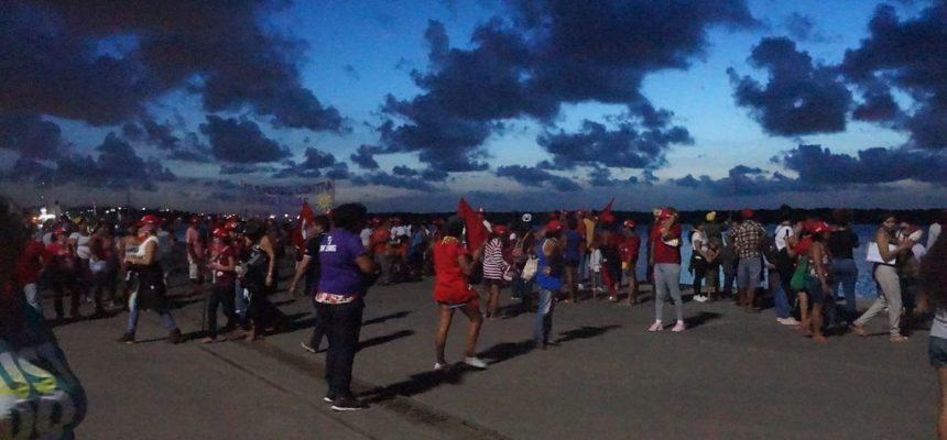 No RN, mulheres terminam Jornada Nacional de Lutas ocupando o Porto de Natal