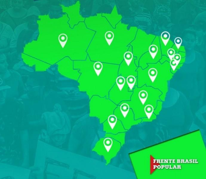 Atos se espalham pelo Brasil em defesa do direito de Lula ser candidato
