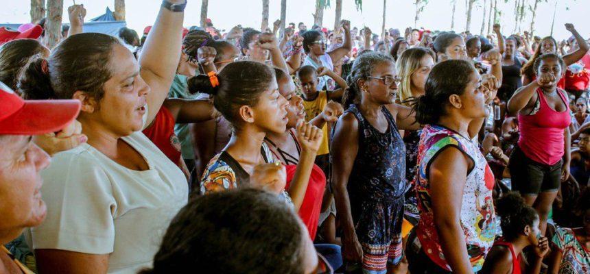 Atividades de formação movimentam acampamento de mulheres no Extremo Sul da Bahia