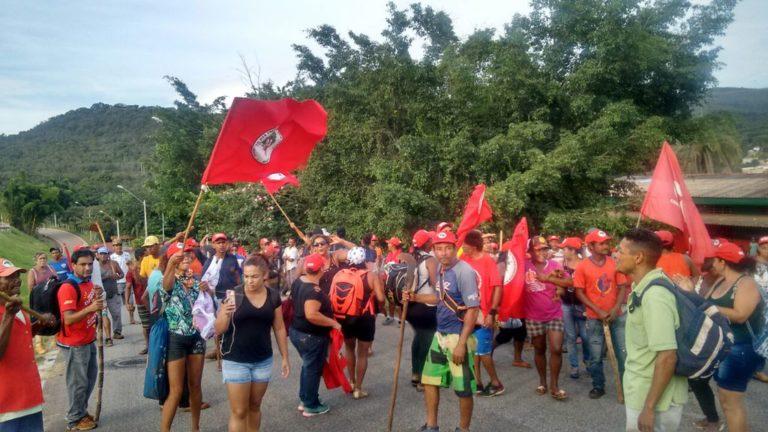 Polícia agride acampados em represália à ação das mulheres na Nestlé
