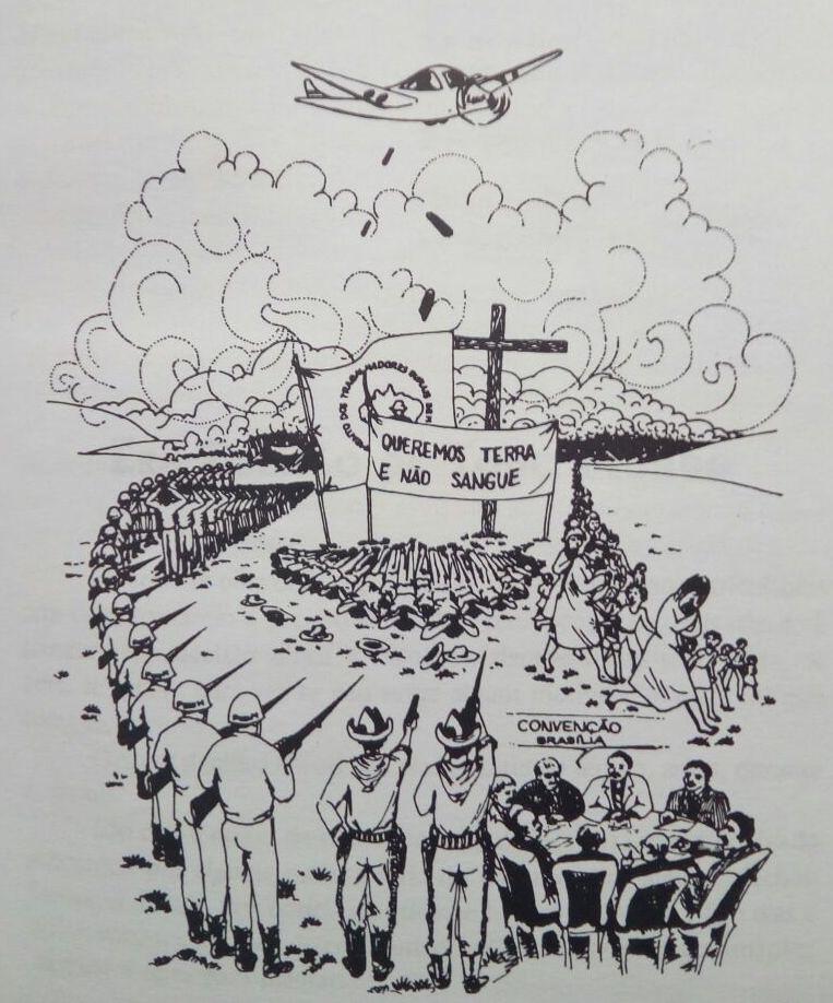 Conforme Adelar Pretto, avião soltava bombas de efeito moral e de gás lacrimogêneo sobre as famílias Sem Terra.jpeg