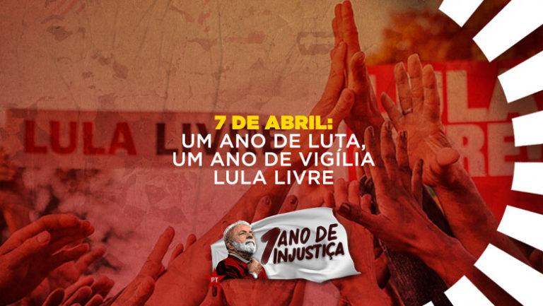 Vigília será o palco de grande ato nacional por Lula