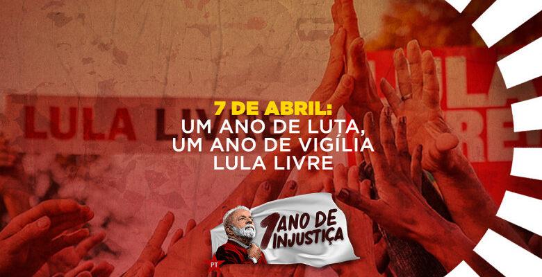 Símbolo de resistência, Vigília será o palco de grande ato nacional por Lula