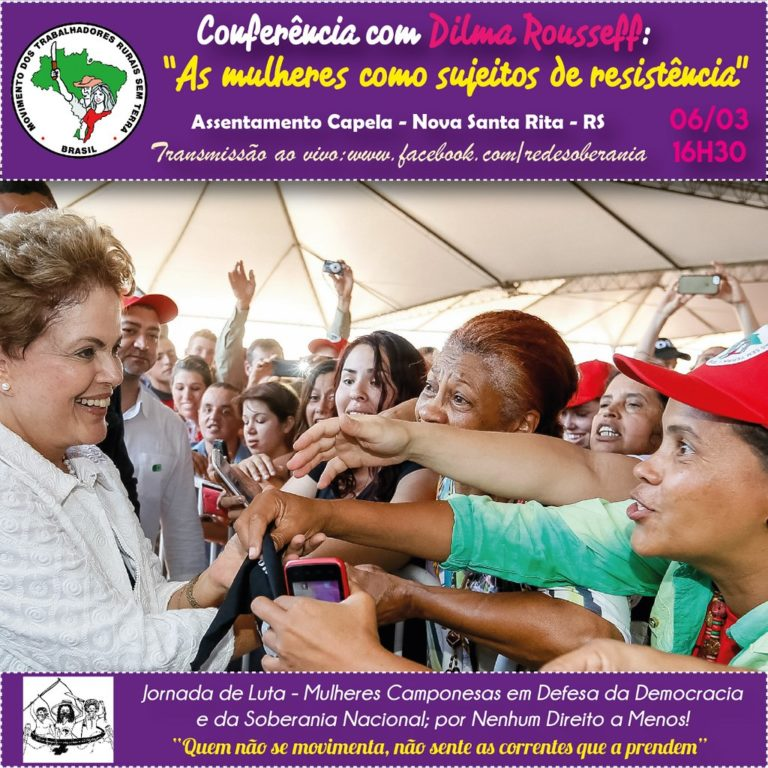 8 de Março: Mulheres Sem Terra e uruguaias se mobilizam na Fronteira Oeste do RS