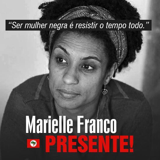 A militância do Estado do Rio de Janeiro acordou mais triste e indignada