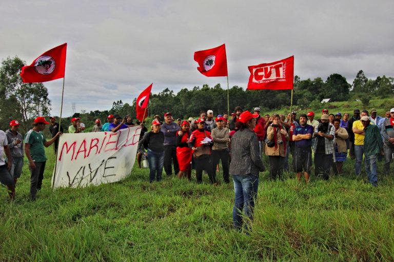 MST realiza ato em apoio à ocupação Marielle Vive