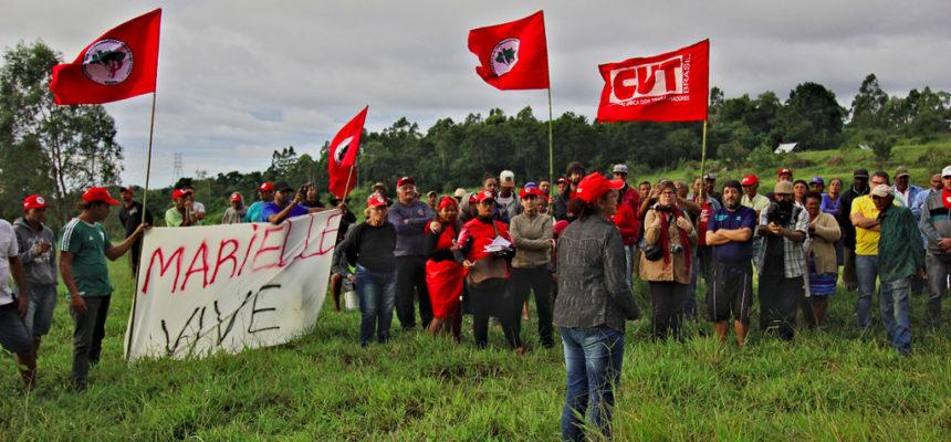 Em Valinhos, MST realiza ato em apoio à ocupação Marielle Vive
