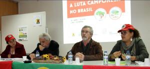 Camponesas do MPA e do MST denunciam o golpe em Portugal