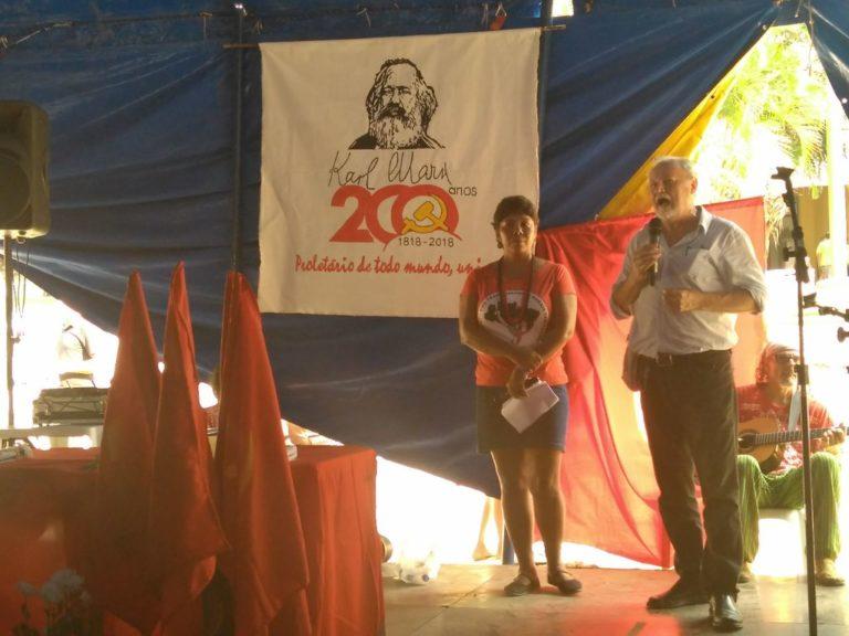 Ato celebra o bicentenário de Karl Marx durante Feira da Reforma Agrária