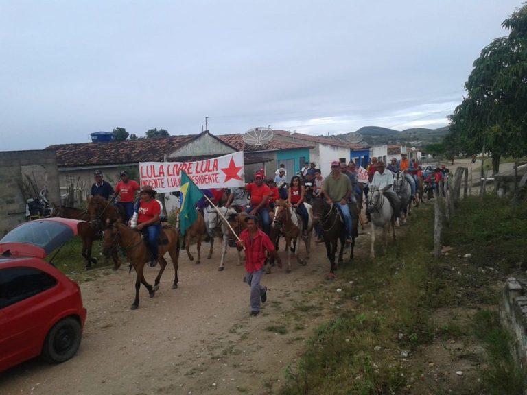 Cavalgadas Lula Livre marcam Caravana Sem Terra no Agreste e Sertão de Alagoas