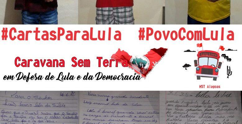 Cartas para Lula marcam o início da Caravana Sem Terra em Alagoas