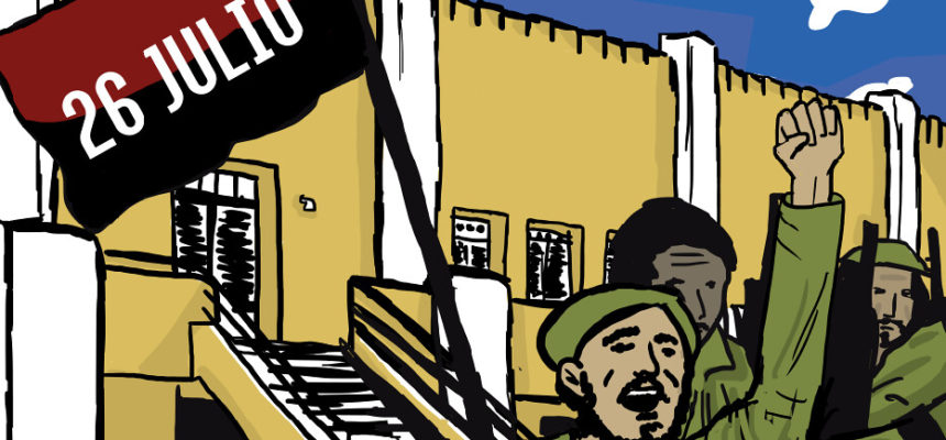 Cuba comemora 65 anos do 26 de julho, o Dia da Rebeldia Nacional