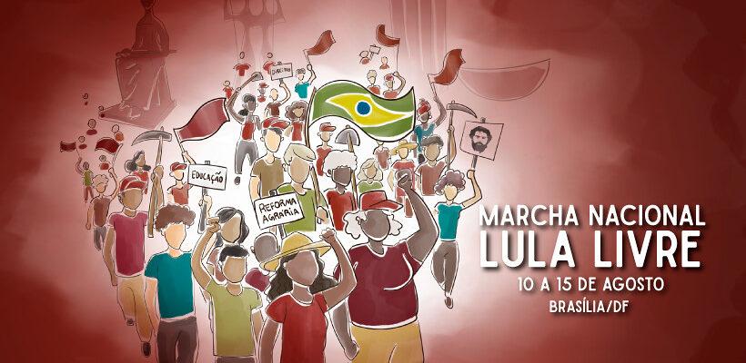 Acompanhe em tempo real a Marcha Nacional Lula Livre