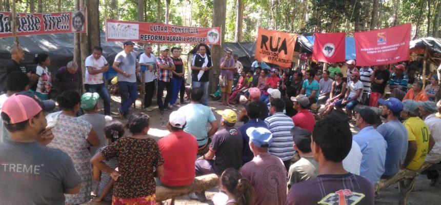 Entidades visitam acampamento Marielle Franco, no Maranhão