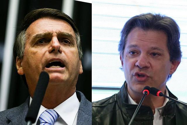 Conheça as principais diferenças entre Bolsonaro e Haddad
