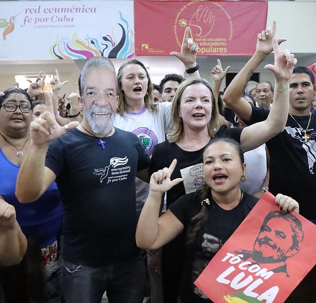 Lula saúda o XXVI Encontro do Foro de São Paulo