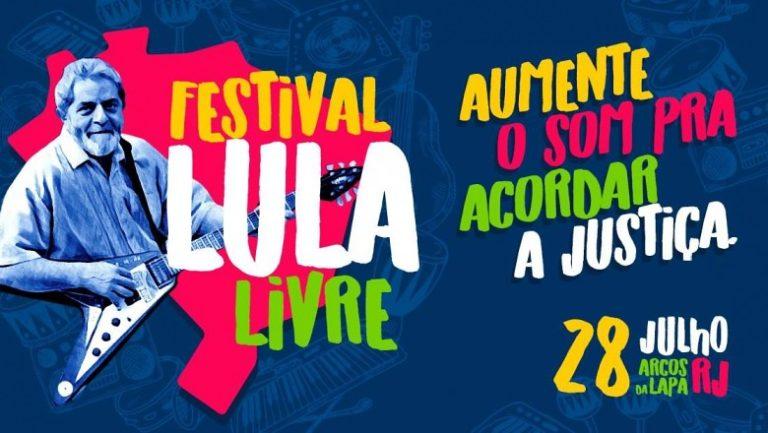Festival Lula Livre terá 10 horas de duração e mais de 40 artistas