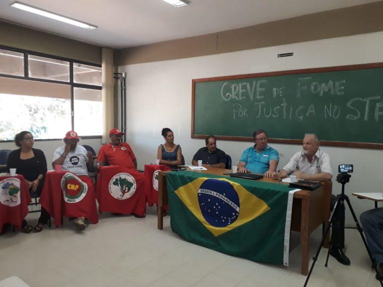 militantes iniciam greve de fome e cobram justiça no STF